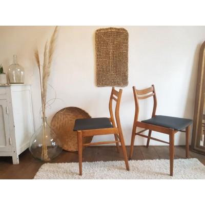 Paire de chaises scandinaves -  circa 1960