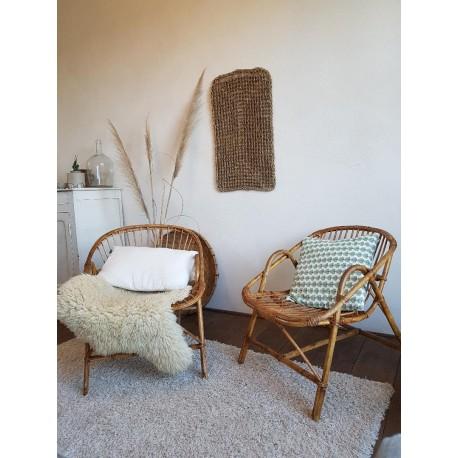 Paire de fauteuils osier et rotin vintage