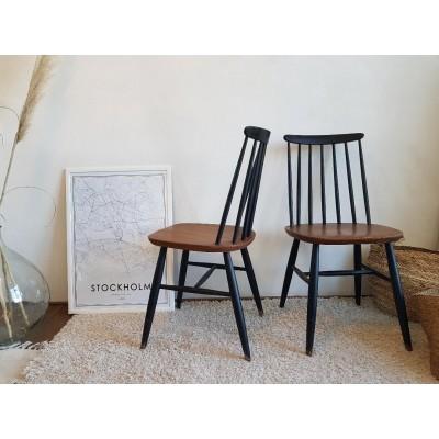 Suite de 6 chaises -scandinaves esprit Tapiovaara - 1960
