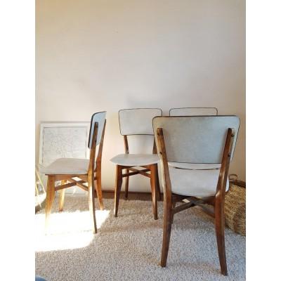 Suite de 4 chaises  vintage - circa 1960
