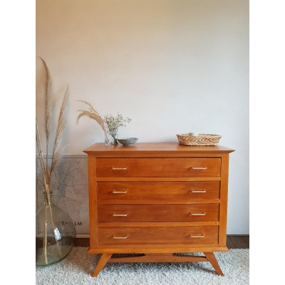 Commode scandinave pieds compas vintage
