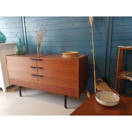 Buffet moderniste circa 1960 avec tiroirs cachés