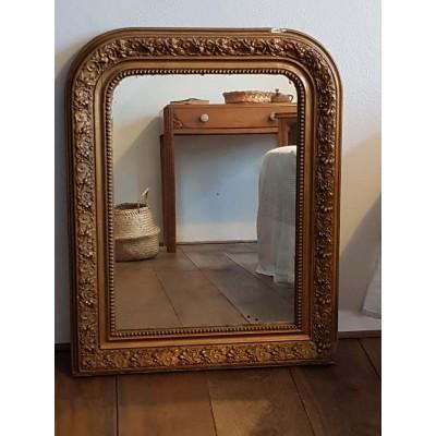 Miroir doré ancien 71X56