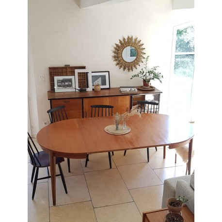 Table scandinave 4, 6 ou 8 convives - rallonges
