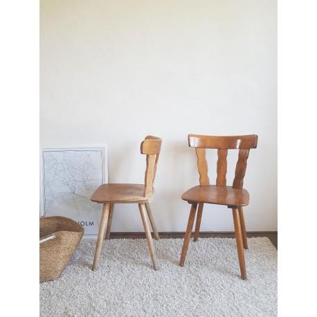 Paire de chaises brutalistes vintage
