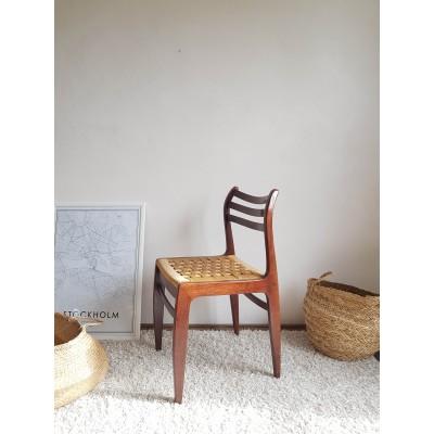 Paire de chaises scandinaves corde tressée