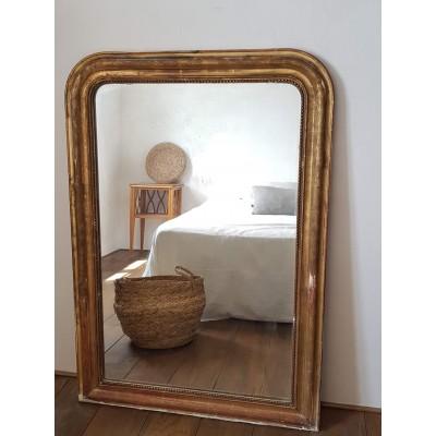 Miroir ancien doré 121 x 83 style Louis Philippe