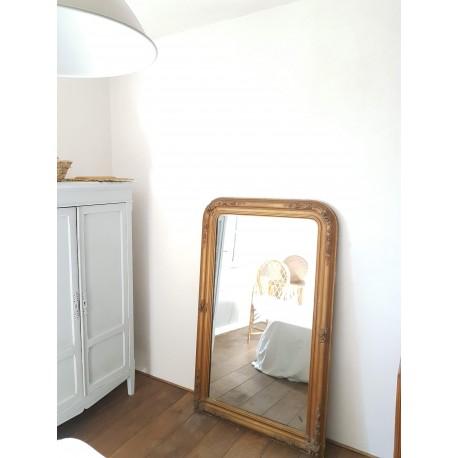 Miroir ancien doré 143 x 88  style Louis -Philippe