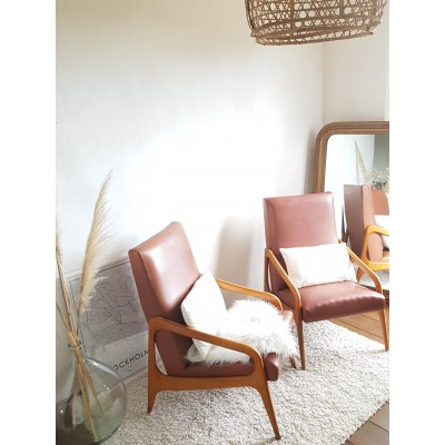 Paire de fauteuils scandinave années 60 STELLA