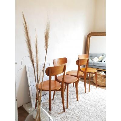 Suite de 4 chaise bistrots LUTERMA circa 1960