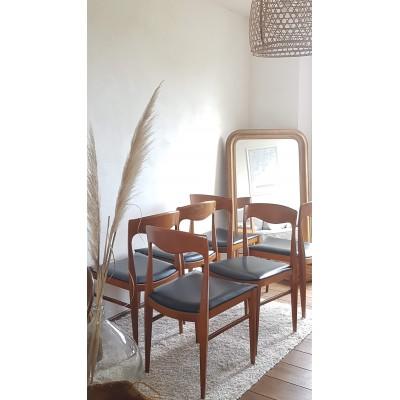 Suite de 6 chaises scandinaves DLG de N.O. Moller