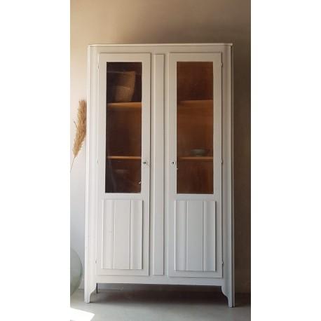 Armoire parisienne vitrée, double portes,ancienne