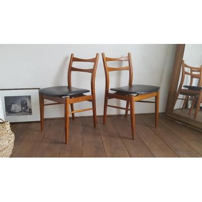 4 ou Paire de chaises scandinaves - 1960