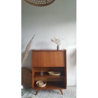 Secrétaire pieds compas - années 60