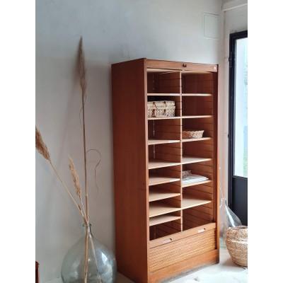 Double classeur à rideau vintage - meuble de métier