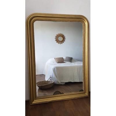 Grand miroir ancien doré - 143  x 103