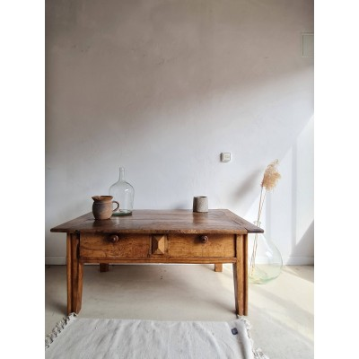 Table basse ancienne esprit table de ferme
