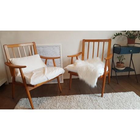 """Un ou Paire fauteuil scandinave """"Boomerang"""" édité par Thonet"""